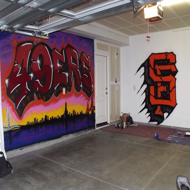 San Francisco Mural/SF Giants Logo