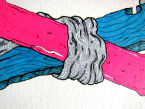 Culture Flash illustration ink and colored pencil on watercolor paper