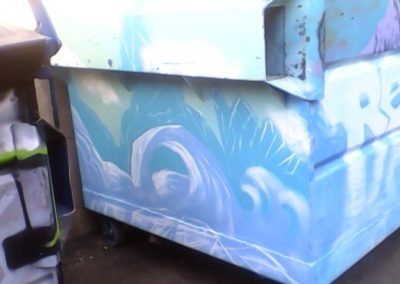 Wide Open Walls mural graffiti dumpster