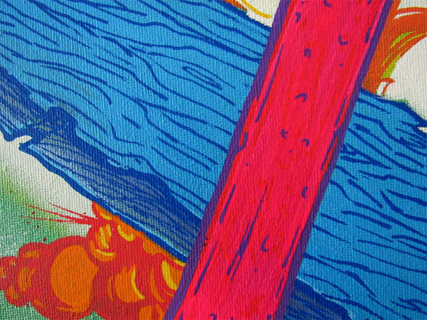 Next 'Verse (Bursting through to the Next Universe) mixed media painting detail