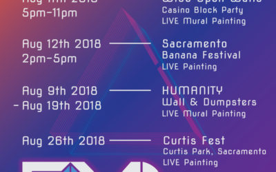 August LIVE Painting Schedule