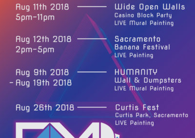 Grey Matter August 2018 Live Painting Schedule