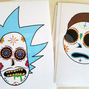 Muerte Smith and Sugar Sanchez 2 pack stickers