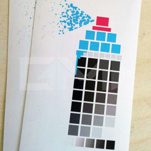 Pixel Paint blue graffiti geek sticker