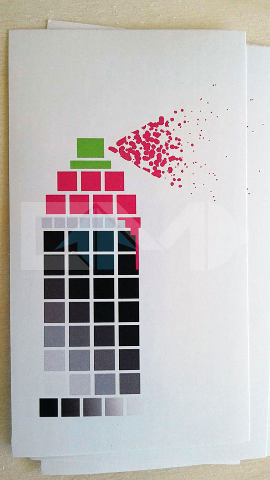 Pixel Paint pink graffiti geek sticker